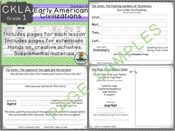 CKLA Core Knowledge Grade 1 Early American Civilizations Domain 5