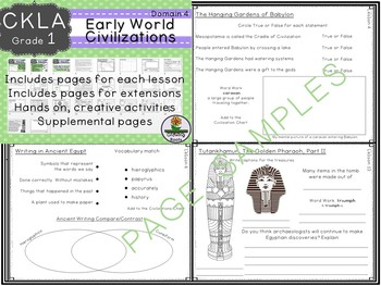 CKLA Core Knowledge Grade 1 Early World Civilizations Domain 4