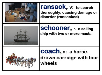 CKLA Core Knowledge Grade 4 Unit 8 Treasure Island Vocabulary Cards