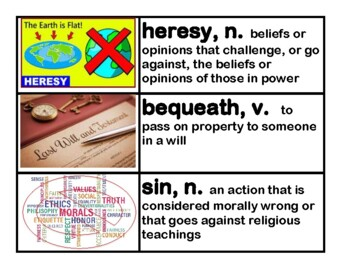 CKLA Core Knowledge Grade 5 Unit 7 The Reformation Vocabulary Cards