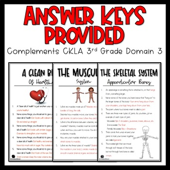 "CKLA Core Knowledge ""Human Body"" Domain 3 Student Booklet"