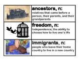 CKLA Core Knowledge Grade 2 Domain 11 Immigration Vocabula