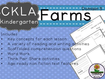 CKLA Core Knowledge Kindergarten Farms Companion Domain 5