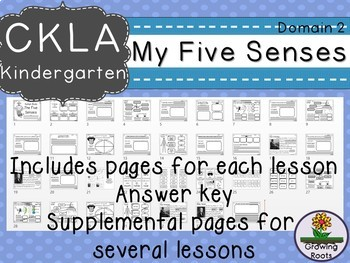 CKLA Core Knowledge Kindergarten Human Body Five Senses Companion Domain 2