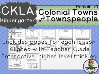 CKLA Core Knowledge Kindie Colonial Towns and Townsfolk Companion Domain 10