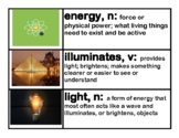 CKLA Core Knowledge Light and Sound Vocabulary Cards Domai