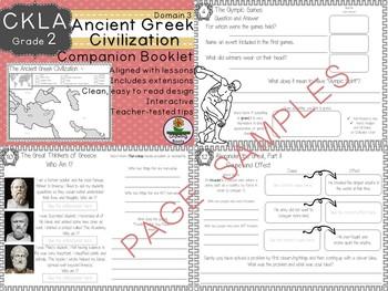 CKLA Core Knowledge Second Grade Ancient Greek Civilization Companion Domain 3