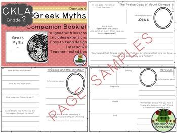 CKLA Core Knowledge Second Grade Greek Myths Companion Domain 4