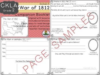 CKLA Core Knowledge Second Grade The War of 1812 Companion Domain 5