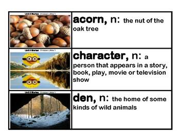 CKLA Core Knowledge Kindergarten Domain 3 Stories Vocabulary Cards