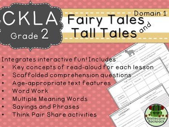 CKLA  Domain 1 2nd grade Fairy Tales and Tall Tales Booklet TEAM LICENSE
