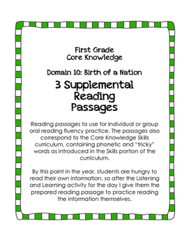 CKLA Domain 10: Birth of a Nation {First Grade}