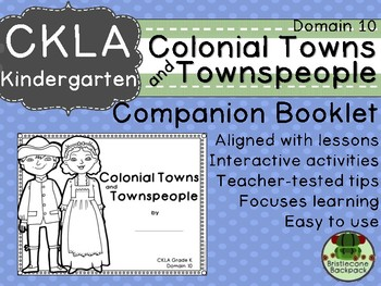 CKLA Domain 10 Kindie Colonial Towns and Townspeople Companion Booklet