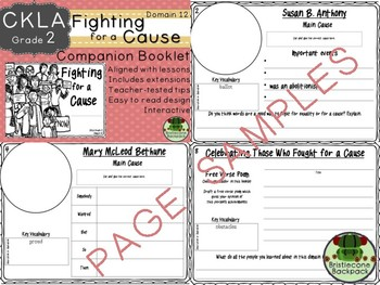 CKLA  Domain 12 2nd  Fighting for a Cause Companion Booklet TEAM LICENSE