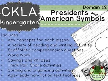 CKLA  Domain 12 Kinder Presidents and American Symbols Companion Booklet