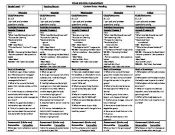 CKLA Domain 2 Lesson Plan Lessons 6-10