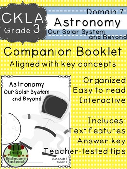 CKLA  Domain 7 3rd grade Astronomy: Solar System and Beyond Booklet TEAM LICENSE