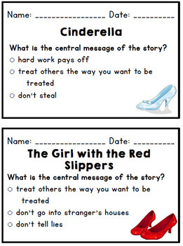 CKLA Domain 3 (Knowledge): First Grade: Central Message Exit Tickets