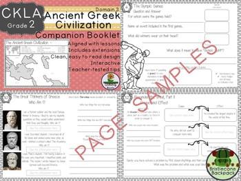 CKLA  Domain 3 Second Grade Ancient Greek Civilization Companion Booklet