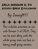 CKLA Domain 3: The Ancient Greek Civilizations 2nd grade