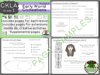 CKLA  Domain 4 1st Grade Early World Civilizations  Booklet TEAM LICENSE