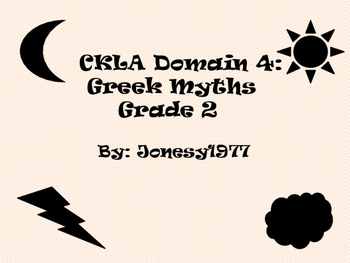 CKLA Domain 4: Greek Myths 2nd grade