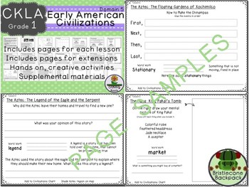 CKLA  Domain 5 1st Grade Early American Civilizations  Booklet TEAM LICENSE