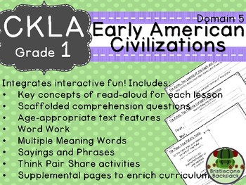 CKLA  Domain 5 First Grade Early American Civilizations Companion Booklet