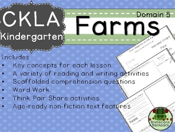 CKLA  Domain 5 Kindergarten Farms Companion Booklet TEAM LICENSE