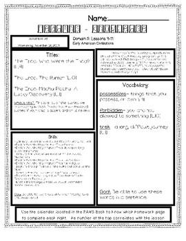 CKLA Domain 5 Lesson 9-11 Homework Guide