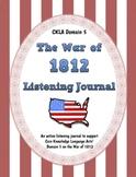 CKLA Domain 5 War of 1812 Active Listening Journal