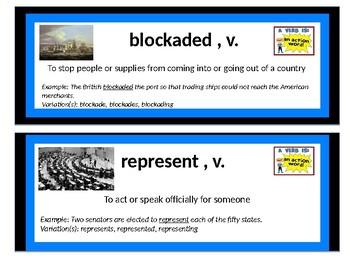 CKLA Domain 5 War of 1812 Vocab Cards