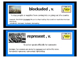 CKLA Domain 5 War of 1812 Vocab Cards