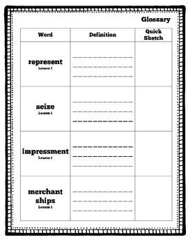 CKLA Domain 5 War of 1812 Vocabulary Pack