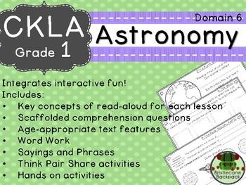 CKLA  Domain 6 1st Grade Astronomy Companion Booklet TEAM LICENSE