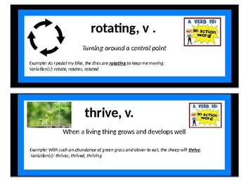 CKLA Domain 6 Cycles in Nature Vocab Cards
