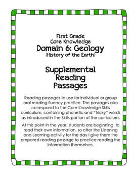 CKLA Domain 7: History of the Earth {First Grade}