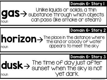 CKLA Domain 6 Vocabulary