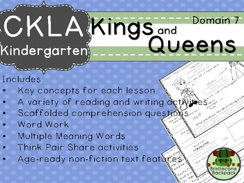 CKLA Domain 7 Kindergarten Kings and Queens Companion Booklet