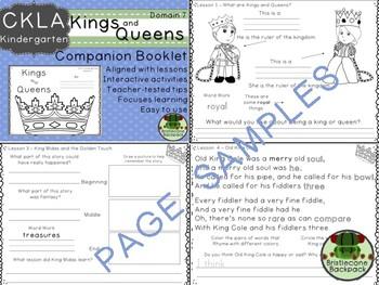 CKLA Domain 7 Kindergarten Kings and Queens Companion Booklet