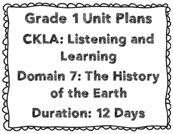 CKLA First Grade Domain 7 Unit Plans