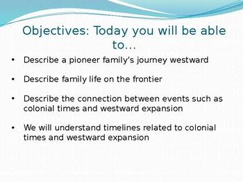 CKLA Domain 7  Westward expansion lesson 1