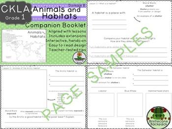CKLA  Domain 8 1st Grade Animals and Habitats Companion Booklet TEAM LICENSE