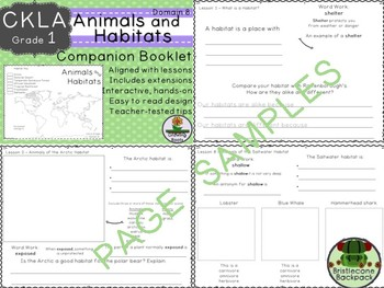 CKLA  Domain 8 First Grade Animals and Habitats Companion Booklet