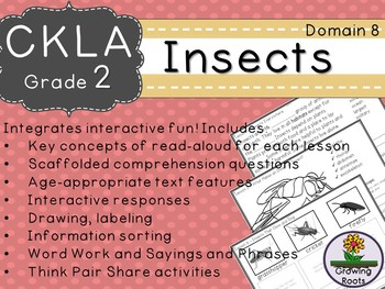 CKLA  Domain 8 Second Grade Insects Companion Booklet TEAM LICENSE