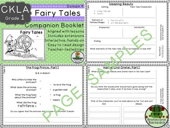 CKLA  Domain 9 1st Grade Fairy Tales Companion Booklet TEAM LICENSE