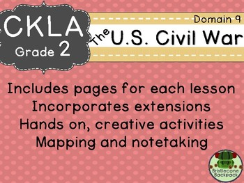 CKLA  Domain 9 Second Grade U.S. Civil War Companion Booklet TEAM LICENSE
