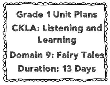 CKLA First Grade Domain 9 Unit Plans