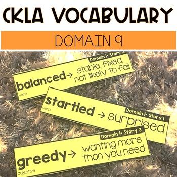 CKLA Domain 9 Vocabulary