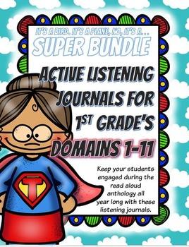 CKLA First Grade ALL-Domains Listening Journal Super BUNDLE